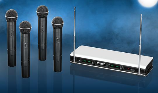 Новая вокальная беспроводная система Stage V466 Quad с четырьмя микрофонами